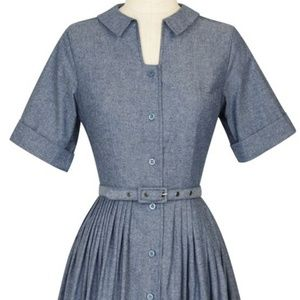 Trashy Diva Chambray Shirtwaist dress - EUC size 6